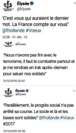 TWEETS-Elysée - voeux 2017