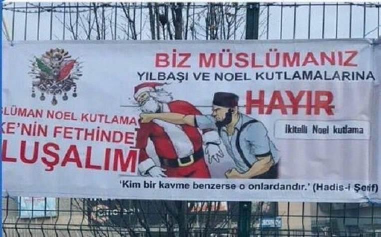Turquie-Coup de poing au Père Noël-décembre 2016