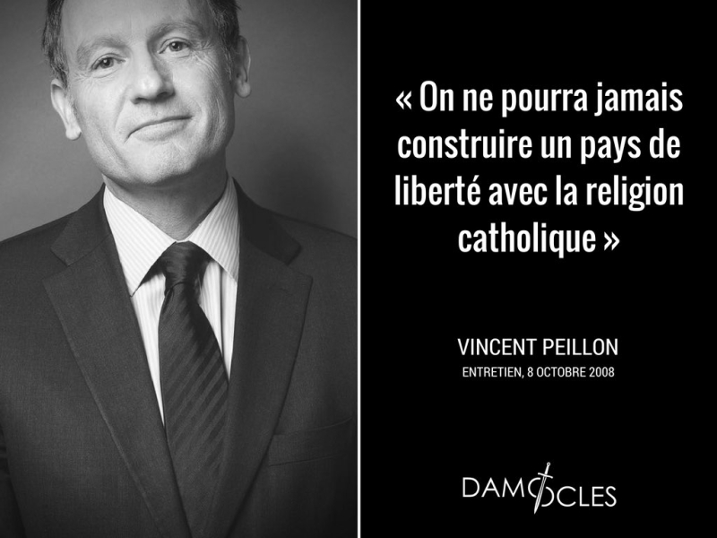 Vincent Peillon et la religion catholique