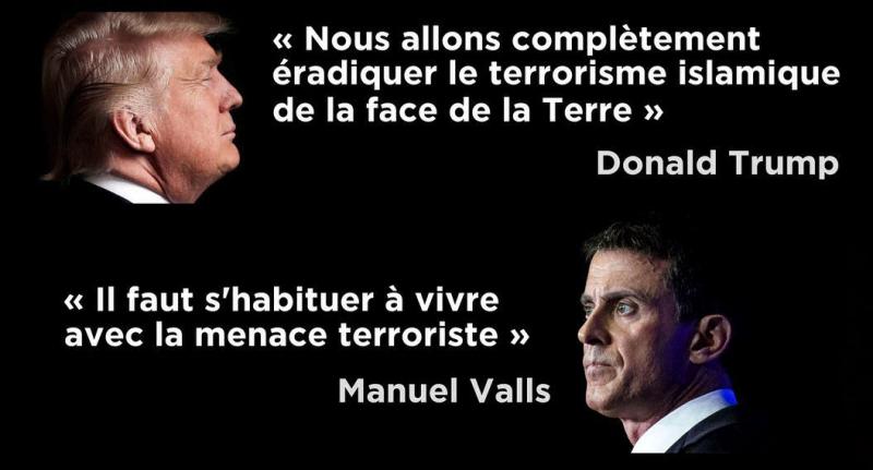 Le terrorisme-Trump-Valls