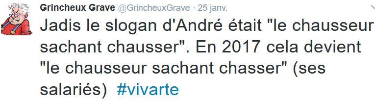 TWEET GG-André le chausseur sachant chausser