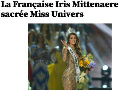 Miss Univers-Iris Mittenaere-30.01.2017