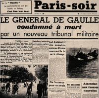De Gaulle condamné à mort
