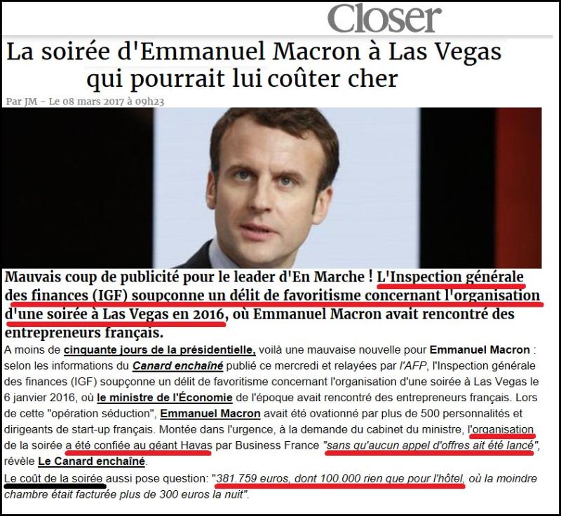 Macron à Las Vegas