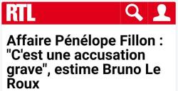 Le Roux sur l'affaire Penelope Fillon