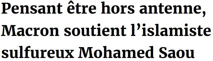 Macron pensant être hors antenne-TITRE
