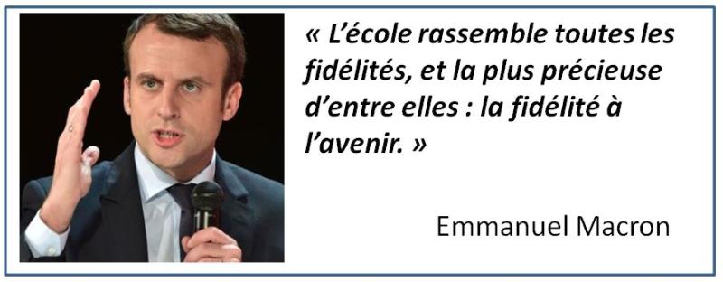 TWEET-Macron fidélité à l'avenir