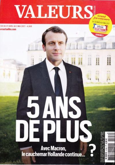 Valeurs actuelles-Macron 5 ans-interrogation