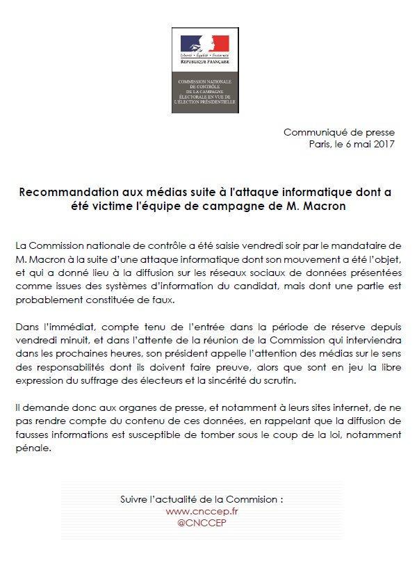 CNC recommandation aux médias-06.05.2017