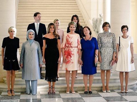 Sommet OTAN Bruxelles mai 2017-groupe des époux
