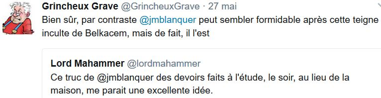 TWEET GG-JM Blanquer ministre education-28.05.2017