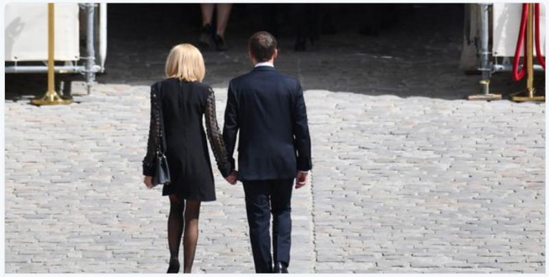 Brigitte Macron en deuil mais court vêtue-Simone Veil-05.07.2017