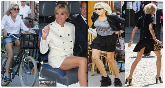 Brigitte Macron légère et court vêtue