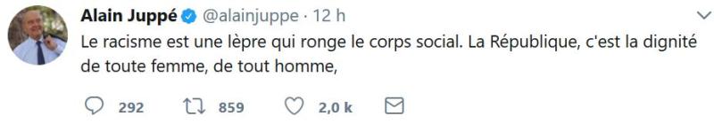 Alain Juppé TWEET du 20.08.2017