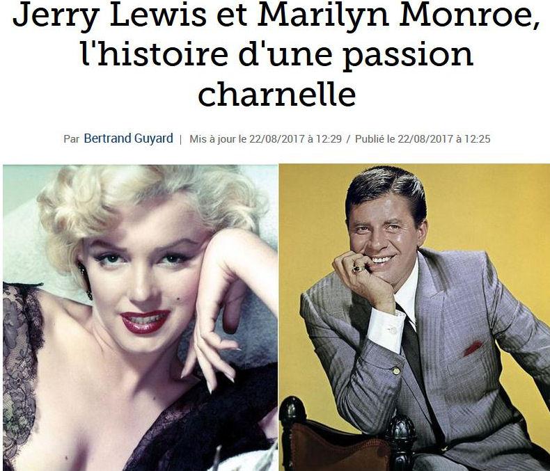 Jerry Lewis et Marilyn Monroe