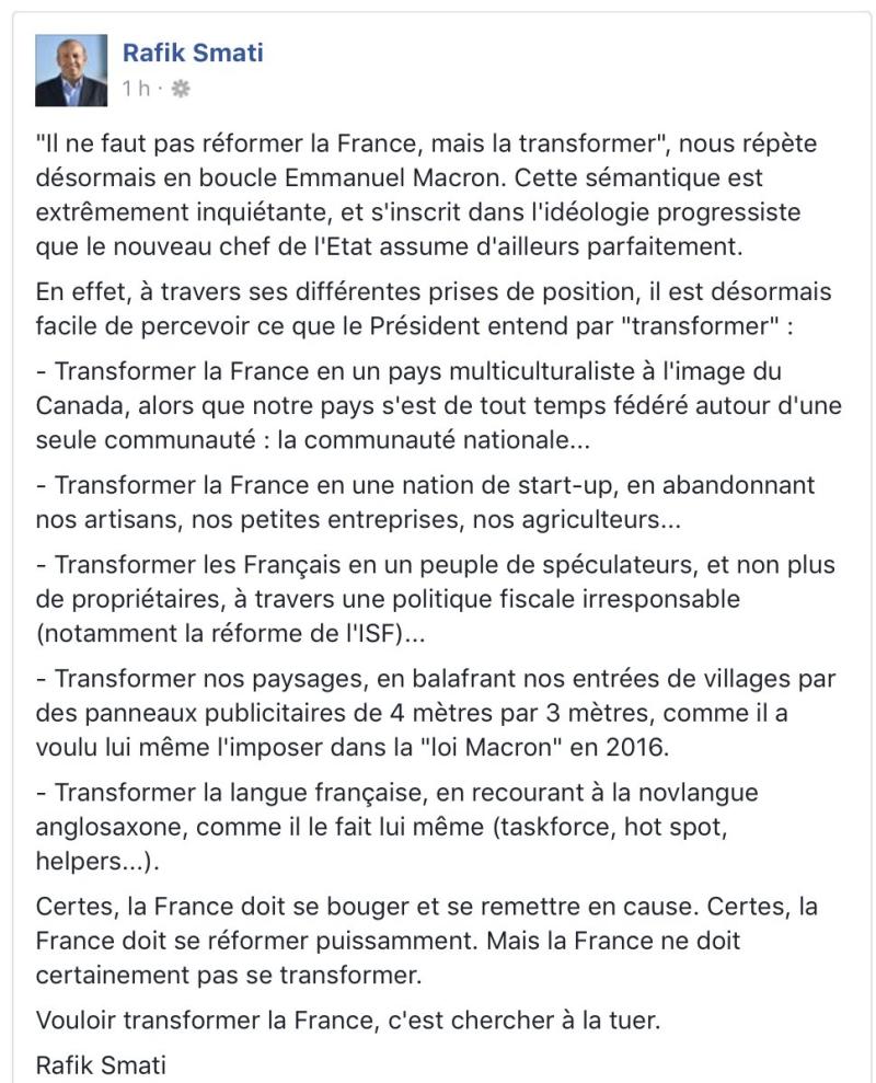 Rafik Smati -Transformer la France - 03.09.2017