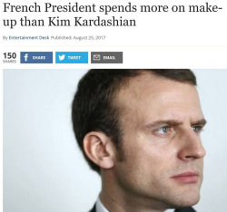 Macron spends more on make-up than Kim Kardashian