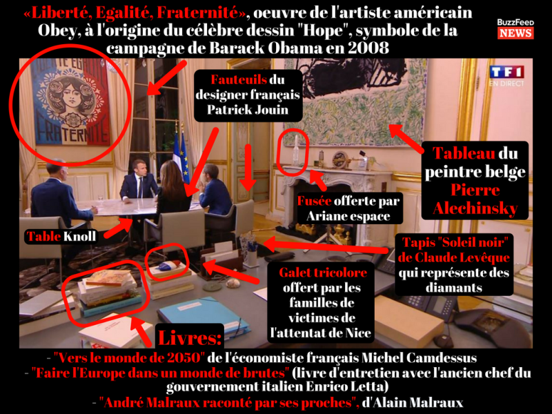 Bureau de travail Emmanuel Macron-ITW TV du 15.10.2017