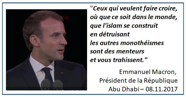Macron à Abu Dhabi-08.11.2017