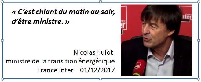 Nicolas Hulot sur France Inter-01.12.2017