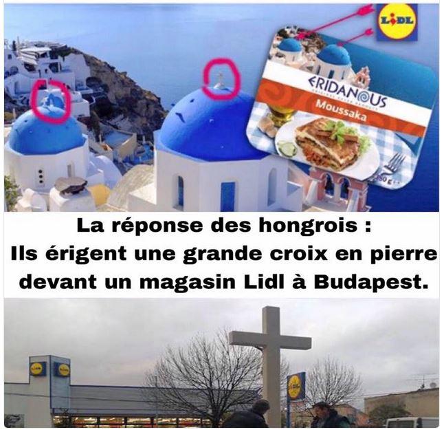 Lidl en Hongrie croix yaourts-dec 2017