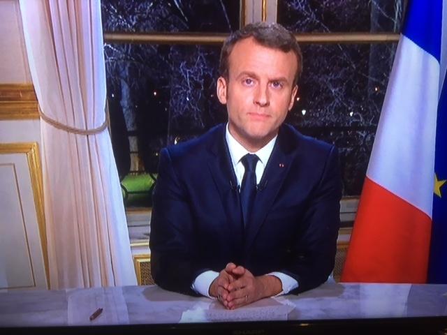 Macron-Voeux télé 2017 pour 2018