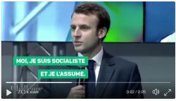 Macron - Moi je suis socialiste et je l'assume