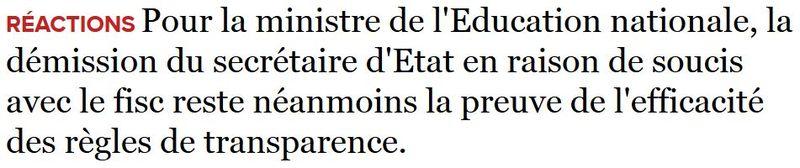 Belkacem-déclaration démission Thévenoud-05.09.2014