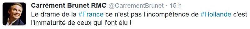 Tweet Brunet de RMC - 05.09.2014
