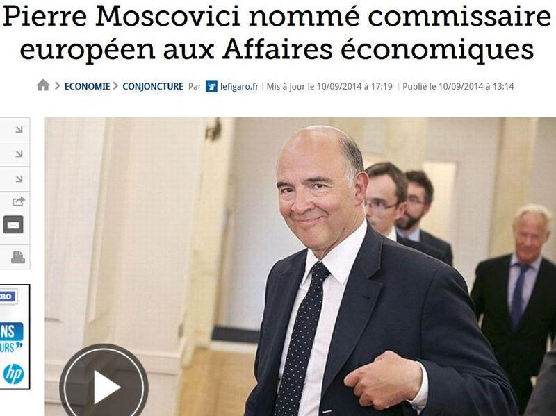 Moscovici commissaire européen-sept 2014