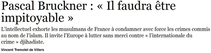 Pascal Bruckner - Le Figaro 25.09.2014