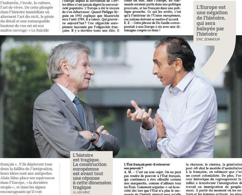 Le Figaro 04.10.2014 - Alain Minc - Eric Zemmour