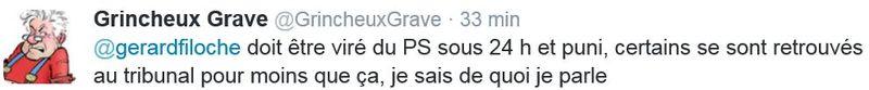 GG TWEET sur Gérard Filoche