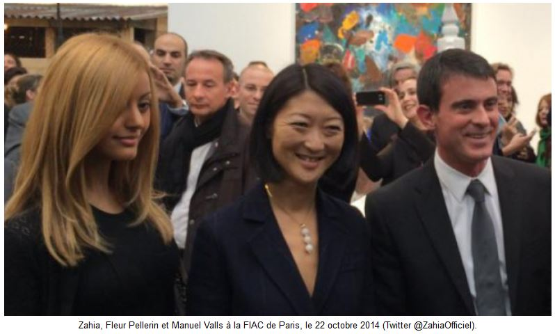 FIAC - Zahia - Fleur Pellerin - Manuel Valls - 22 oct 2014