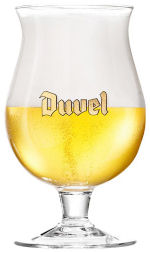 Bière DUVEL verre tulipe