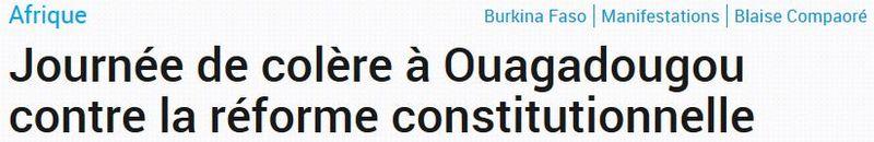 Ouagadougou - Journée de colère - 28.10.2014