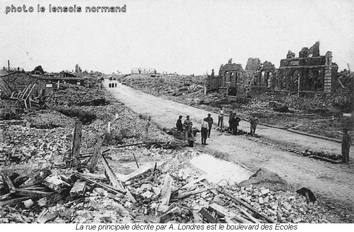 Le Lernsois normand-Lens Bd des Ecoles 1918
