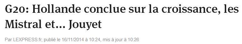 G20-Hollande conclue-L'EXPRESS-16.11.2014