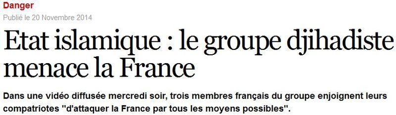 Etat islamique - Attaquer la France
