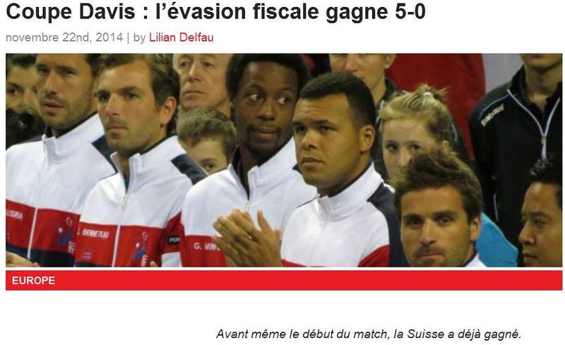 Coupe Davis-La Suisse gagne avant le premier match