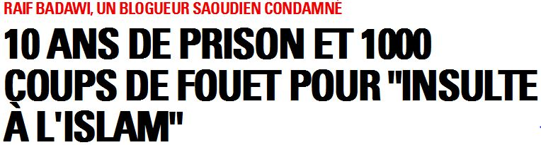Raif Badawi - Titre Paris Match