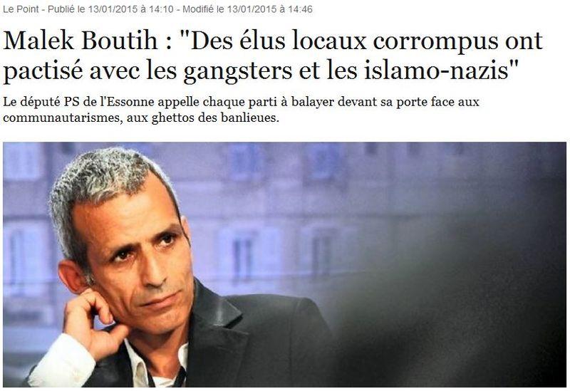 Malek Boutih - Des élus locaux corrompus - Le Point - 16.01.2015