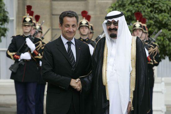 Sarkozy - Abdallah ben Abdelaziz Al Saoud.