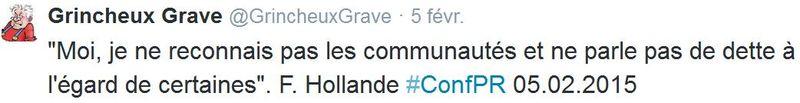 TWEET-Hollande et les communautés