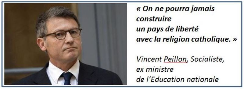 TWEET-Vincent Peillon christianophobe