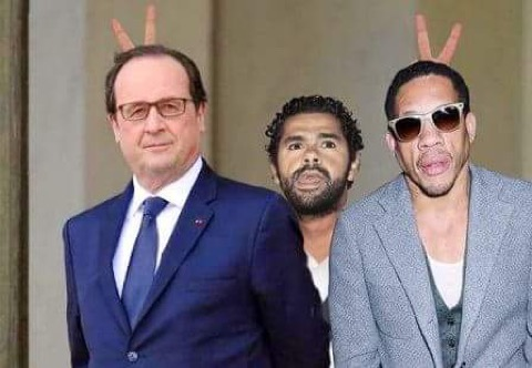 Hollande-Debbouze-Joey Starr