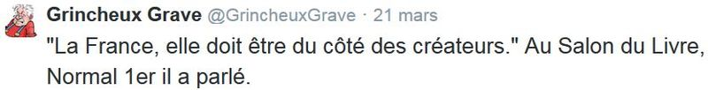 TWEET-Normal 1er au salon du livre 2015