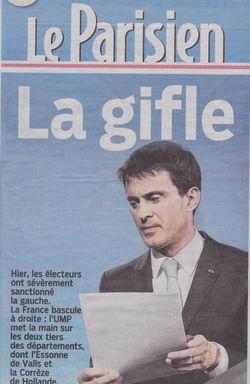 Valls-couv Le Parisien - 30.03.2015.