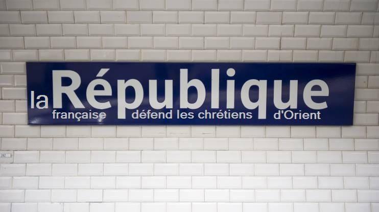 Métro République soutient les chrétiens d'Orient-avril 2015