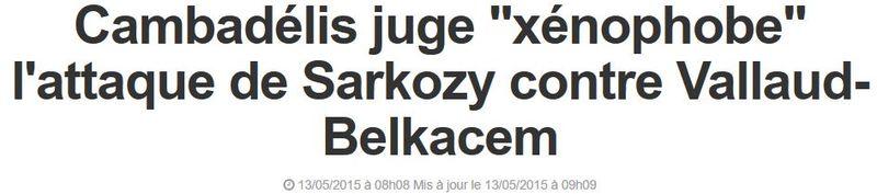 Cambadelis juge Sarkozy xénophobe-13.05.2015